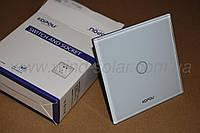 Белый Сенсорный выключатель 1 клавиша закаленное стекло брызгозащита для ванной кухни спальни гаража сауны