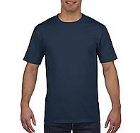 Футболкa плотная темно-синяя Premium Cotton, Gildan, Канада 100% коттон, плотность 185 г/м2