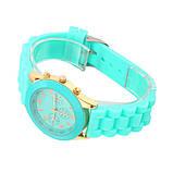 Женские наручные силиконовые часы Geneva mint, фото 4