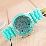 Женские наручные силиконовые часы Geneva mint, фото 5