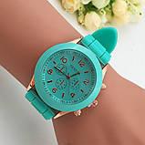 Женские наручные силиконовые часы Geneva mint, фото 6