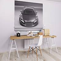 Римска штора с фотопечатью черно-белая Audi