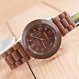 Жіночі наручні силіконові годинник Geneva brown, фото 2
