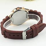 Жіночі наручні силіконові годинник Geneva brown, фото 5