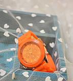 Женские наручные силиконовые часы Geneva orange, фото 3