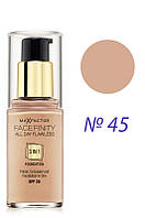 Max Factor  Тон.основа  Facefinity All Day Flawless 3in1  №45  30 мл Код товара 779