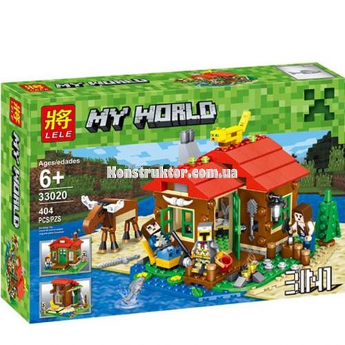 """Конструктор Minecraft Lele 33020 """"Домик у озера 3 в 1"""" 404 детали. Аналог ЛЕГО 31048"""