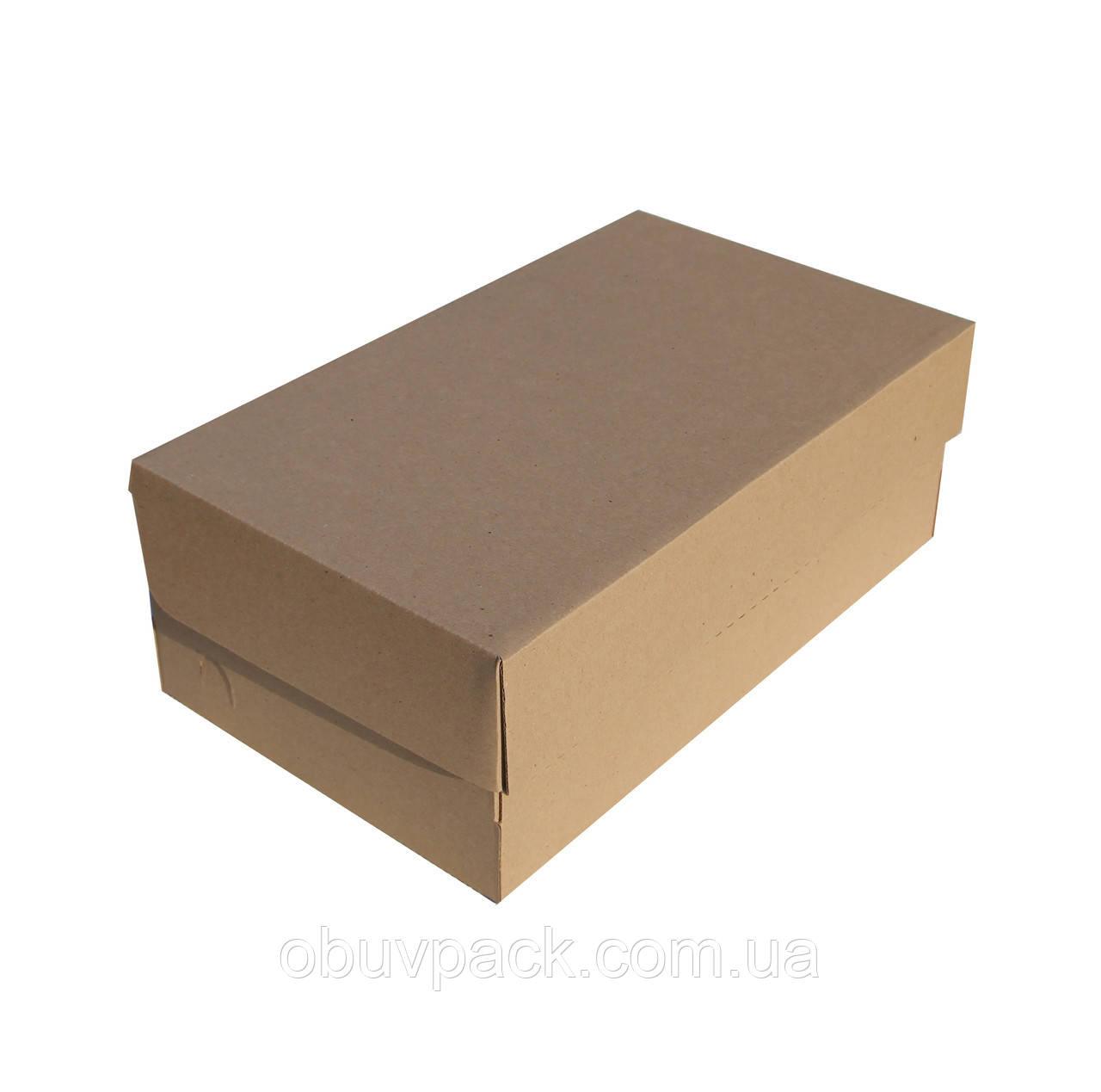 Коробка обувная 340х200х120 мужской туфель бурая