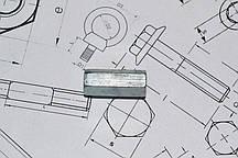 Оцинкованная соединительная гайка М6 DIN 6334