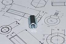 Оцинкованная соединительная гайка М8 DIN 6334
