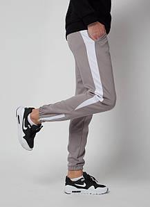 Штаны спортивные Rocky (Рокки) серые с белой вставкой