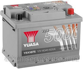Аккумулятор автомобильный Yuasa Silver HP 60AH R+ 620А YBX5075