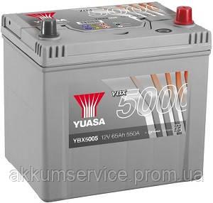 Аккумулятор автомобильный Yuasa Silver HP 65AH R+ 550А YBX5005