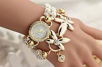 Наручные часы женские с жемчужным браслетом