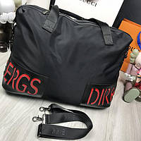 35116ea2b3bd Стильная женская дорожная сумка Bikkembergs черная текстиль ремень через  плечо унисекс Биккембергс реплика