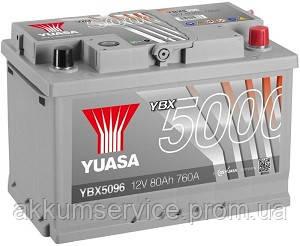 Аккумулятор автомобильный Yuasa Silver HP 80AH R+ 760А YBX5096