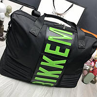 7b078bdb0eb7 Стильная женская дорожная сумка Bikkembergs черная текстильная унисекс  ремень через плечо Биккембергс реплика