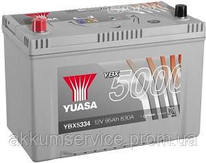 Аккумулятор автомобильный Yuasa Silver HP 95AH R+ 830А YBX5334