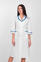 Жіночий медичний халат білий габардин