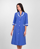Женский медицинский халат синий габардин