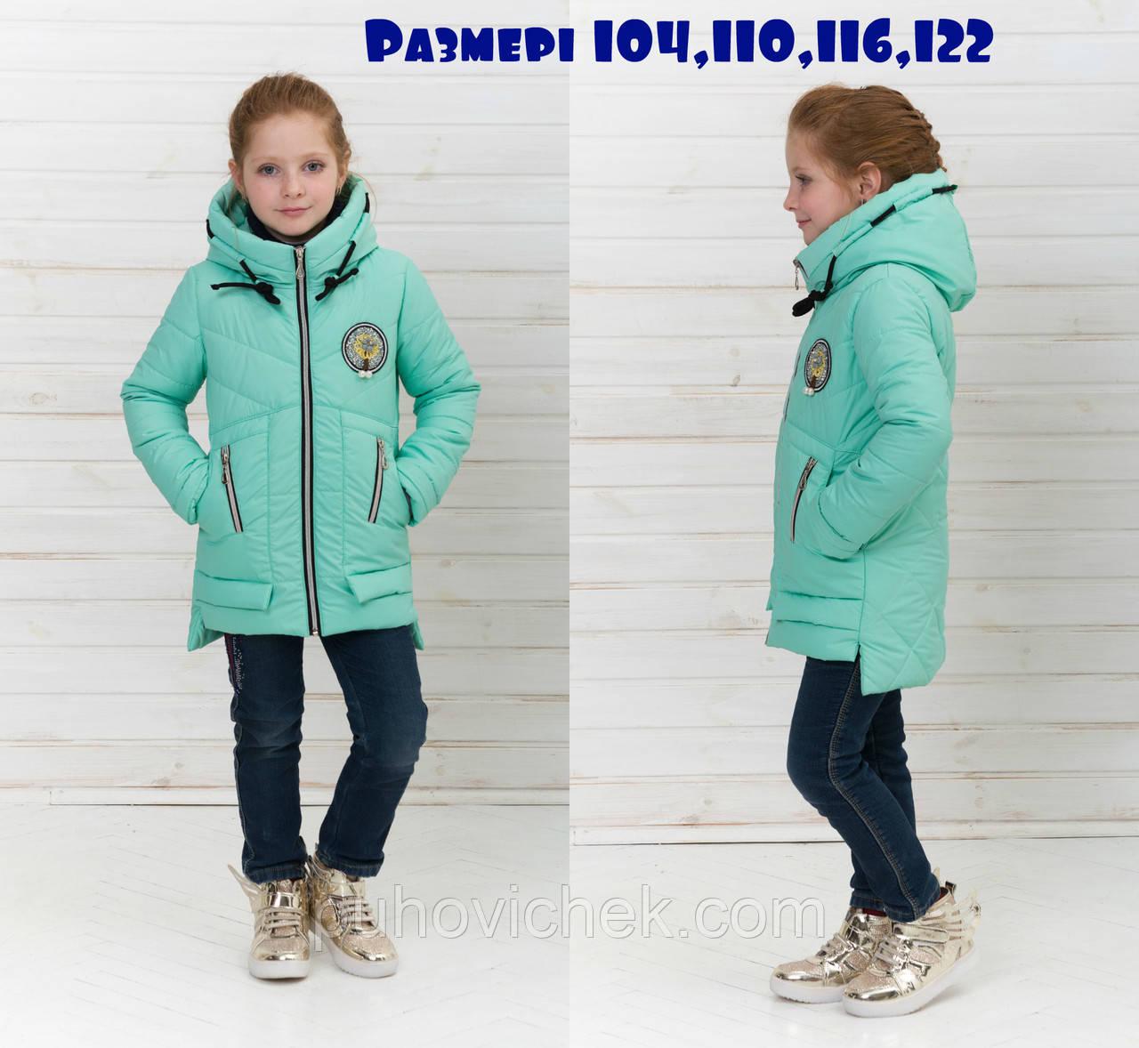 Весенние детские курточки для девочек удлиненные