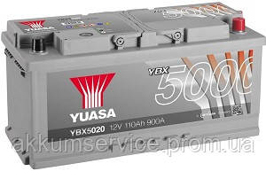 Акумулятор автомобільний Yuasa Silver HP 110AH R+ 900А YBX5020