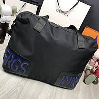 Модная мужская дорожная сумка Bikkembergs черная текстиль унисекс с ременем через плечо Биккембергс реплика, фото 1