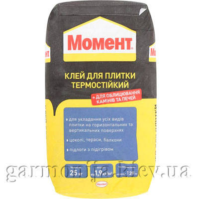 Клей для плитки Момент термостойкий, 25 кг, фото 2