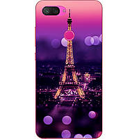 Силиконовый чехол бампер для Xiaomi Mi 8 Lite с картинкой Париж ночью