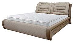 Ліжко двоспальне 160х200 Беатріче ортопедична, еко шкіра, тканина, ламель, з коробом. Під замовлення