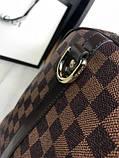 Кожаная дорожная сумка Louis Vuitton коричневая натуральная кожа Люкс Качество Модная сумка Луи Виттон реплика, фото 6