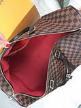 Кожаная дорожная сумка Louis Vuitton коричневая натуральная кожа Люкс Качество Модная сумка Луи Виттон реплика, фото 7