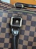 Кожаная дорожная сумка Louis Vuitton коричневая натуральная кожа Люкс Качество Модная сумка Луи Виттон реплика, фото 5
