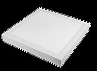 LED панель Luxel квадратная, накладная, 12W 4000K (SDLS-12N), фото 1