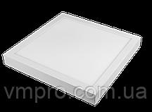 LED панель Luxel квадратная, накладная, 12W 4000K (SDLS-12N)