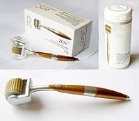 Мезороллер дермароллер ZGTS Gold титановые иглы с позолотой 0.5мм
