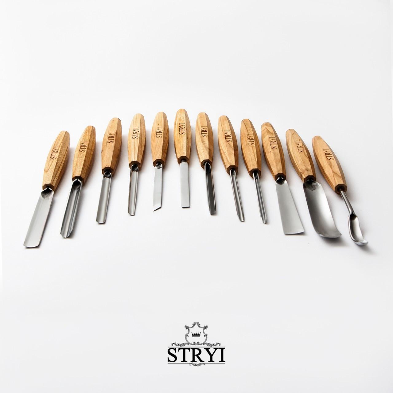 Набор профессиональных стамесок STRYI, 12 шт. от производителя(аналог PFEIL)