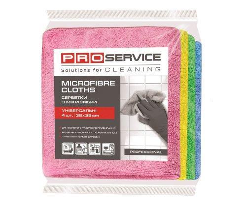 Pro service салфетки из микрофибры professional 38*38 4шт