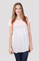 Женская блуза с коротким рукавом свободного кроя