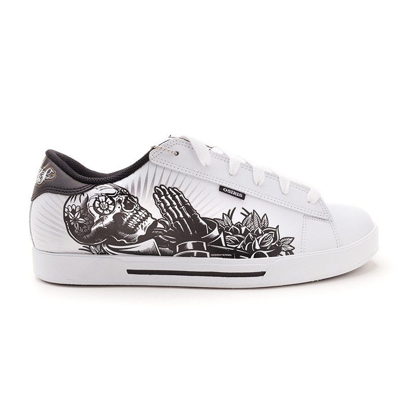 Кроссовки Osiris Serve wht/blk/prayng hands 11,5