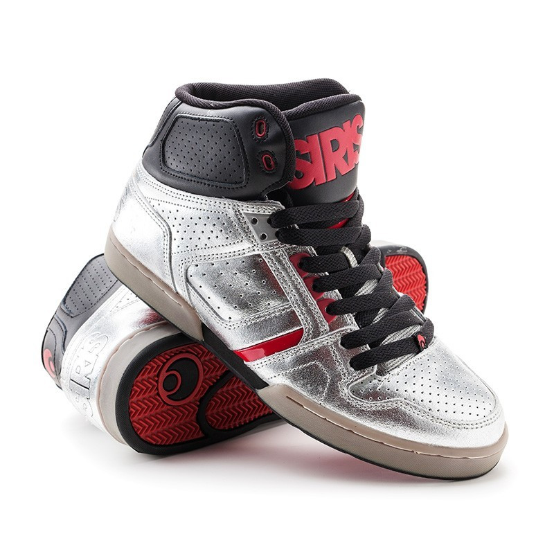 Кроссовки Osiris Bronx Slim blk/red/mir 39,5 размер (25 см)