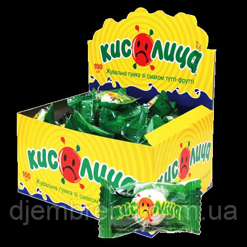 Жевательные резинки Кислица Тутти-фрути, блок - 100 шт.