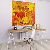 Римска штора с фотопечатью Осенние листья
