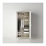 ІКЕА СКУББ Модуль для зберігання з 6 відділеннями, білий, 35x45x125 см, фото 3