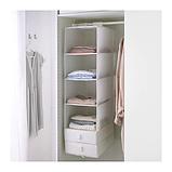 ІКЕА СКУББ Модуль для зберігання з 6 відділеннями, білий, 35x45x125 см, фото 2