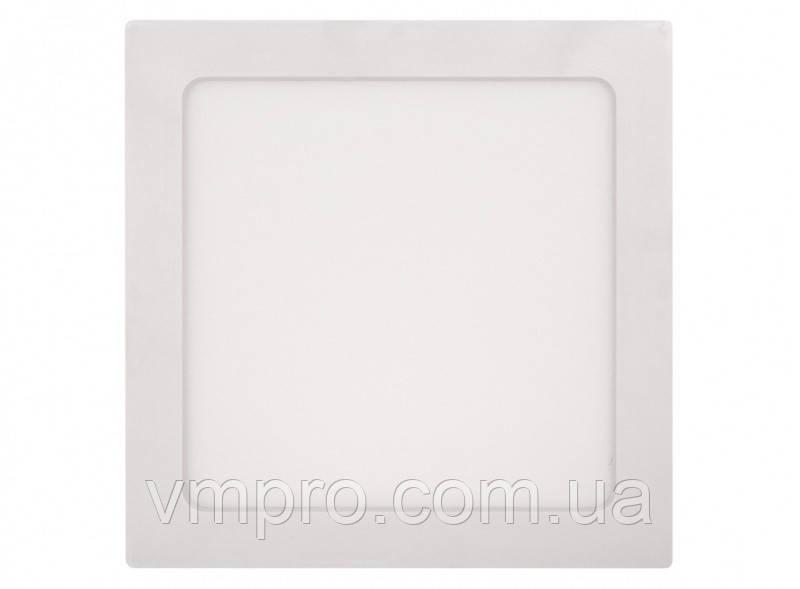 LED панель Luxel квадратная, накладная, 18W 4000K (SDLS-18N)