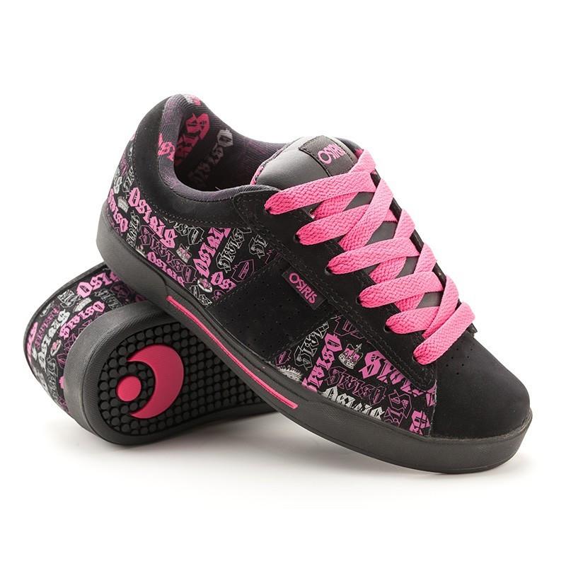 Кроссовки Osiris Volley girls blk/pink/royalty 41,5 размер (26,5 см)