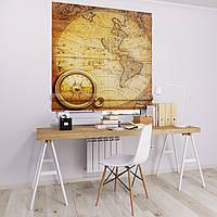 Римская штора с фотопечатью Карта мира