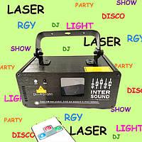 Диско лазер светодиодный 3 цвета с пультом ДУ. DM-RGY250