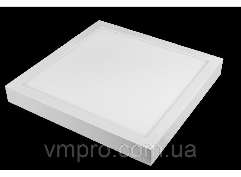 LED панель Luxel квадратная, накладная, 24W 4000K (SDLS-24N)